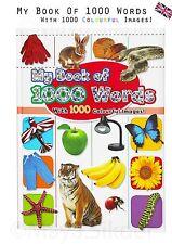 Niños Niños Primero 1000 palabras libro con coloridos imagen para preescolar Vivero