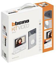 BTICINO 364612 KIT VIDEOCITOFONICO MONOFAMILIARE CLASSE 100V16E PULS. LINEA 3000