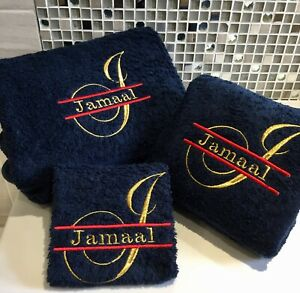New Monogram Facecloths, Hand and Bath Towels, Stunning Script Border Design