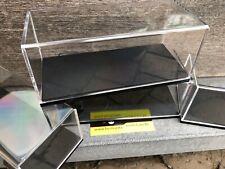 BBR DISPLAY SHOWCASE FOR 1/43 SCALE MODELCAR BLACK BASE NEW 165X75X70 MM