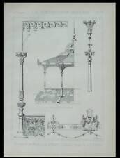 MONTE-CARLO, KIOSQUE DE MUSIQUE - 1889 - PLANCHE ARCHITECTURE - GUSTAVE RIVES