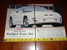 1998 PONTIAC TRANS AM - ORIGINAL ARTICLE