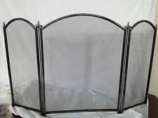 """22 """"inglenook Negro chimenea Fuego Pantalla curvada Peltre 3 Panel Fuego Protector"""