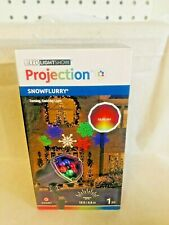 GEMMY LightShow Projection MultiColor Lights SnowFlurry Snowflakes 15FT NEW
