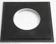 """Lens Board 70mm Threaded Bore - 5 3/16"""" Square Bevel and 1/4"""" Rabbet - Used C282"""