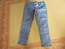 LADIES BLUE TWEED COTTON/ELASTANE SKINNY JEANS BY GIRLS EXPRESS - SIZE 18 - NWT