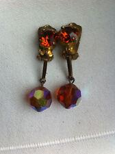 Bijou Ancien - Boucles d'oreilles Pendantes - CLIPS - Old Earrings -  Beads