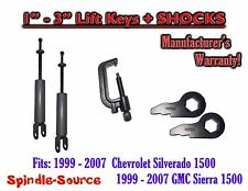 Torsion Level FRONT FORGED LIFT KEYS + SHOCKS + TOOL 1999 - 06 Chevy GMC 1500