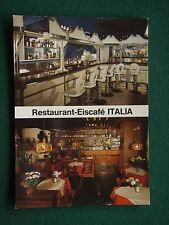 RESTAURANT-EISCAFE ITALIA ROTHENBURG POSTCARD