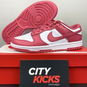 New Womens Nike Dunk Low Sz 8.5 Archaeo Pink White Casual Shoes DD1503 111