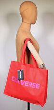 Neu Converse Retro Tragetasche Einkaufstasche Shopper Tasche Rot