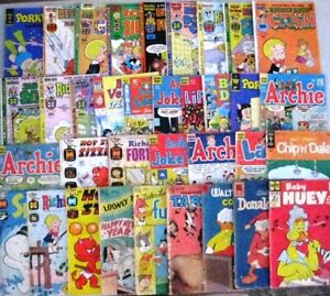 BIG LOT OF 35 HUMOR COMICS FROM 1950'S-1970'S (FR) DISNEY, HARVEY, ARCHIE & MORE