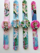 Girls Kids Children Frozen Elsa Anna Wrist Snap on Slap band LED Watch Gift her