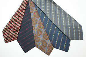 LOT OF 5 GUCCI silk ties MADE IN ITALY. F13926