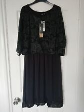 Myrine Antwerp Black Lace Party Dress Cruise  Bnwt Xl