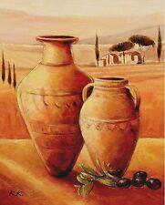 Karsten Kirchner: Mediterranean Paradise Leinwand-Bild 24x30 Wandbild Toskana