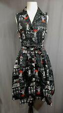 Modcloth Community Brunch Black Shirt Dress 3X Parisian Ladies Pockets Pleated