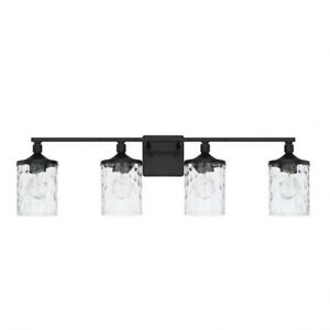 HomePlace by Capital Lighting Colton 4 Light Vanity, Matte Black - 128841MB-451