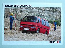 Prospekt Isuzu Midi Allrad Kombi und Bus, 1989, 2 Seiten