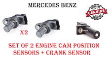 Mercedes Camshaft Cam Position Sensor Set Of 2 & Crank Sensor W211 W164 W221