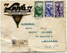 1951 Italia al Lavoro RACCOMANDATA Cav. A.G. Santi Stabilimento Vinicolo Illasi