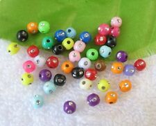 1000PCS Mixed colour plastic beads W/rhinestone 4mm W18705