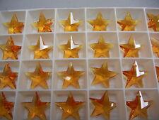 4 swarovski crystal star pendants(top drilled)20mm topaz #6714