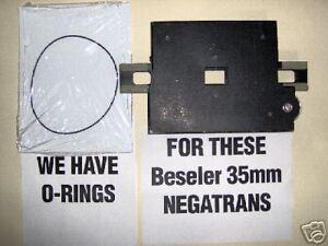 NEW O-RINGS for ALL Beseler 35mm Negatrans Negative Carriers