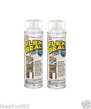 2 JUMBO CANS Flex Seal CLEAR 14oz Liquid Spray Rubber Sealant - As seen on TV