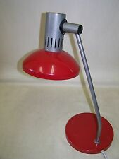 Alte Schreibtischlampe Rot Tischlampe Space age mid century Kult Retro Lampe