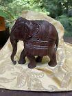 ANTIQUE 1930's handcarved Mandala design Rosewood Hardwood Elephant India