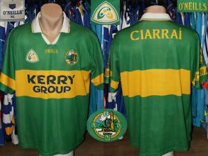 Vintage Ciarrai Kerry Gaa O'Neills Home Shirt Jersey Felt Badge Gaelic Ireland