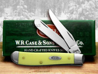 Case xx Mini Trapper Knife Smooth Yellow Delrin Stainless Pocket Knives 80029