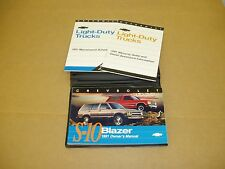 1991 Chevrolet Blazer S-10 owners manual ORIGINAL with case