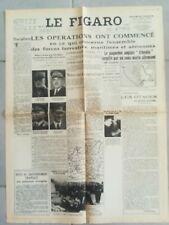 Fac similé Journal LE FIGARO 5 SEPTEMBRE 1939