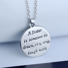 Style Gift Necklace Alloy Pendant Fashion Family Sister Love