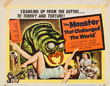 Monster that Challenged the World 11 X 14 Title Lobby Card LC Tim Holt Dalton