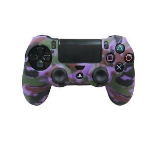 Silicone Grip Purple Camo Soft Shell Non Slip For PS4 Controller