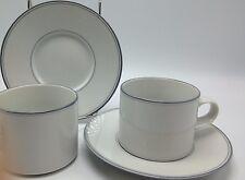 Dansk Concerto Allegro mug cup saucer grey gray 4 piece set white Japan