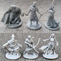 6pcs/Set grey heroes Dungeons & Dragon D&D Marvelous Miniatures War game figures