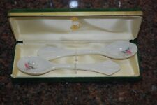 Donegal Irish Parian China Pair of Spoons
