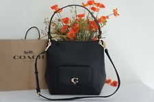 NWT COACH 1321 Remi Hobo Pebble Leather Shoulder Crossbody Bag Black $450