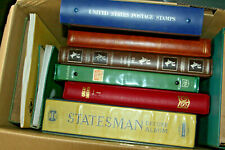More details for box with 11 stamp collections sold as one large lot - all eras - mint & used