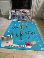 VINTAGE TORPEDO RUN FLOOR WARS MILTON BRADLEY BOARD GAME