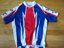Nashbar large Cycling Race Jersey America Racing Jersey Red White Blue