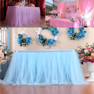 Table Skirt Cover Birthday Wedding Banquet Festive Party Decor Table Cloth UK