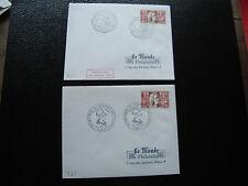 FRANCE-2 enveloppes 1er jour (le monde des philatelistes) 1966 (cy40)french