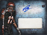 MOHAMED SANU RC 2012 TOPPS INCEPTION #AJP-MS 1CLR PATCH AUTO FB6313