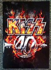 KISS 40 YEARS DECADES OF DECIBELS TOUR BOOK PROGRAM 2014 STANLEY SIMMONS NEW