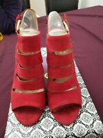 ISOLA. Used Without Tags or box. Fire Red Heels. Womens